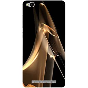 Casotec Gold Smoke Design 3D Printed Hard Back Case Cover for Xiaomi Redmi 3S