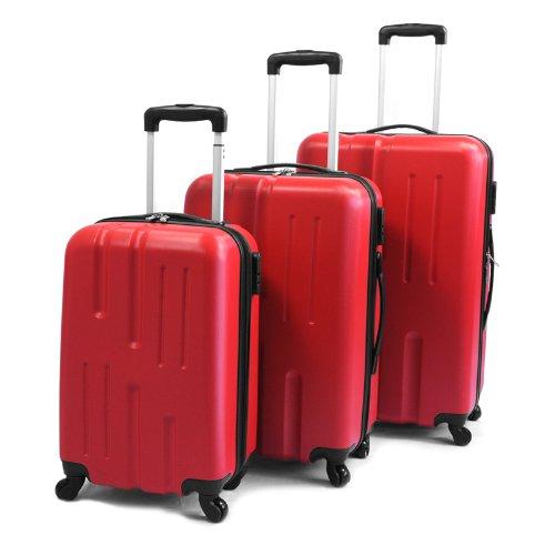 Viaggio Lightweight 3-teiliges Kofferset Rot