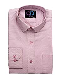 Koolpals Men's Cotton Blend Formal Shirts (Kpms_Fd02_40Pnk_Pink_40)