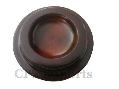 Hardwood Walnut Piano Caster Cups - 3 1/2