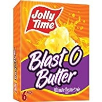 Jolly Time Microwave Pop Corn Blast O Butter Ultimate Theatre Style 3.2 Oz Bags 6 Per Box - Pack Of 3