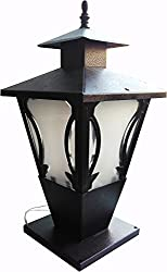 Hi-Tech Lights Glass Gate Light (Bronze, Hi-4)
