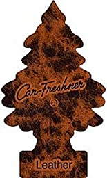 Car Freshener Little Tree Air Freshener Brown Leather Scent (Pack of 24)