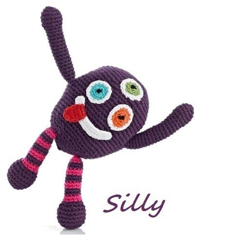 Chubby Monster Rattle - Purple