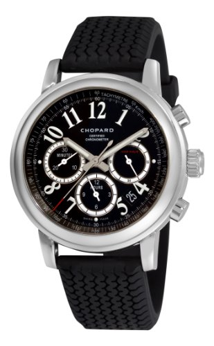 Chopard Men's Mille Miglia 42mm Black Rubber Band Steel Case Sapphire Crystal Automatic Watch 168511-3001