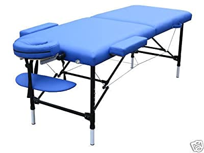 Blue Light Weight Portable Massage Table w/Free Carry Case
