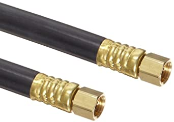 Goodyear EP NR Spray Black Nylon Paint Spray Hose Assembly, Brass NPSM Female Couplings, 750 PSI Maximum Pressure