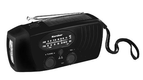 Karcher KR 110 tragbares Kurbelradio (AM/FM-Radio,