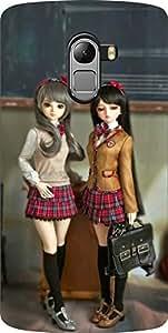 Dot Print Modeling Doll Printed Back Cover For Lenovo Vibe K4 Note