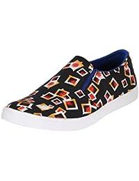 Louis Praiyo Black Mens Casual Slip-on Shoes