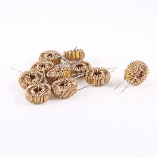 10 Pcs Toroid Core Inductor Wire Wind Wound 130uH 55mOhm 3A Coil