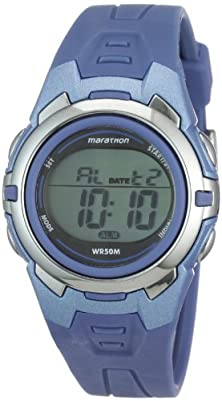 buy Timex Unisex T5K362M6 Marathon Digital Display Quartz Blue Watch
