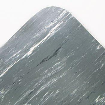 Cushion-Step Mat, Rubber, 36 x 72, Marbleized Gray