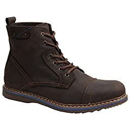 GBX Men\'s Fane 6 Eye Cap Toe Boot,Brown,9.5 M
