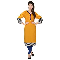Style N shades Solid Yellow Colour Kurti