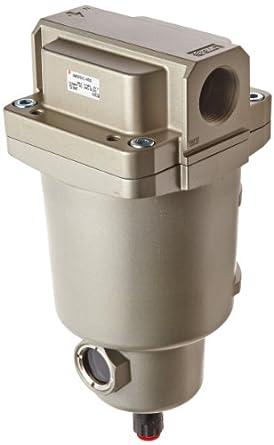 "SMC AMG550C-N10D Water Separator, N.O. Auto Drain, 3,700 L/min, 1"" NPT"