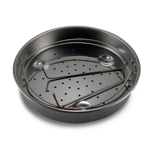 Fagor stainless steel steamer basket.