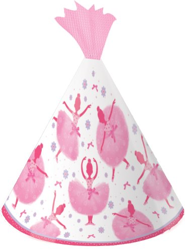 Creative Converting Tutu Much Fun Birthday Party Hats, 8 Count - 1