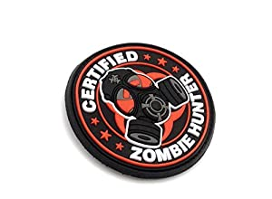 "Patch Velcro Airsoft en PVC ""Certified Zombie Hunter"""