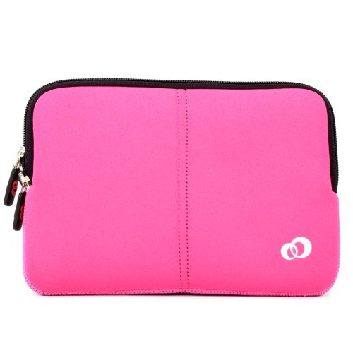 Sony VAIO 13.3 Inch Laptop Neoprene Sleeve Wrapper with Dual Hidden Pocket ForVPC-S13DGX/B Color Magenta - Unspeakable + EnvyDeal Velcro Cable Tie