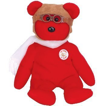 Ty Beanie Babies - Bearon the Bear - 100 Years of Flight - 8 Inches Tall Plush - 1