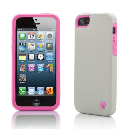 Innovez Eco Friendly Interchangeable iPhone 5 Case (Gray/Pink)