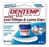 Dentemp O.S.  詰め物用セメント クラウン・被せ物用接着剤 仮着 痛み止め 歯科 【米国輸入】