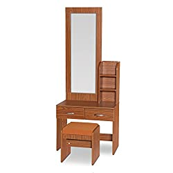 HomeTown Impiana Dressing Table with Stool (Walnut)