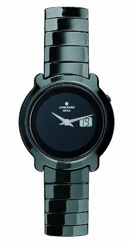 Junghans 013/1611.44 - Reloj analógico para mujer, correa de cerámica color negro