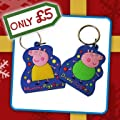 Daddy Pig + Mummy Pig Key Ring Set