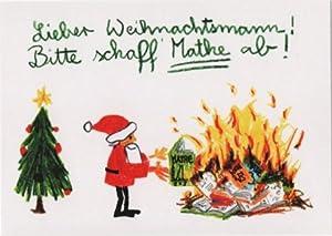Witzige Weihnachtspostkarte Mathe