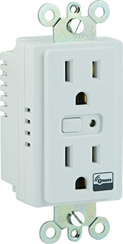ge z wave wireless lighting control duplex receptacle. Black Bedroom Furniture Sets. Home Design Ideas