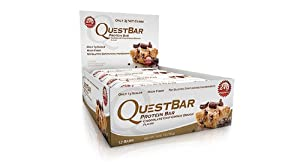 Quest Bar Chocolate Chip Cookie Dough 12 count - 2.12oz (2 Pack)
