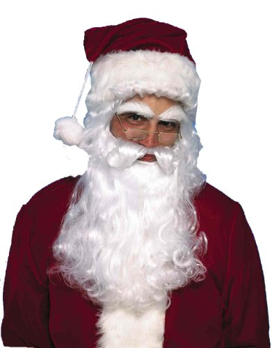 Forum Novelties Men's Santa Claus Wig and Beard Set, White, One Size - 1