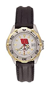 Dale Earnhardt Jr NASCAR All Star Ladies Leather Strap Watch by Nascar Officially Licensed