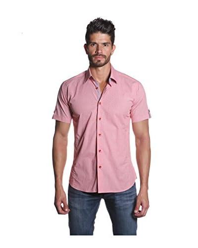 Jared Lang Men's Short Sleeve Shirt with Contrast Details