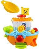 Bathtime Pirate Ship Bathtub Bath Toy for kids with Water Cannon and Boat Scoop