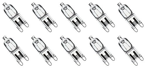 10 Pack Crystal Clear Lense Q40/G9/CL/120V G9 JCD 40 Watt 120 Volt T4 JD Type Halogen House Hold Light Bulb Hanging Pendant Accent Type Spot Down Lamp Chandelier Sconce Fixture Lighting (Electrical Small Oven compare prices)