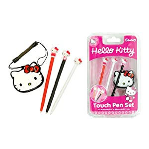 Hello Kitty Touch Stylus Pen Set (Nintendo 3DS, DSi XL, DSi, DS Lite)