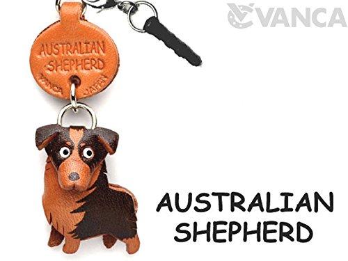 Australian Shepherd in pelle Earphone Jack Accessori VANCA CRAFT Made in Giappone