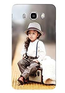 Blue Throat Cute Girl Sitting On Radio Hard Plastic Printed Back Cover/Case For Samsung Galaxy J5 2016