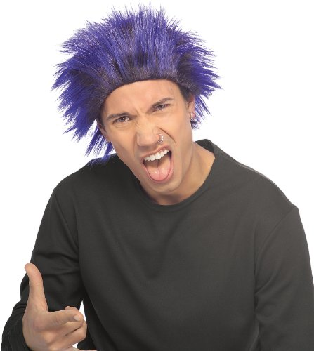 Rubie's Costume Club Dude Wig, Black/Blue, One Size