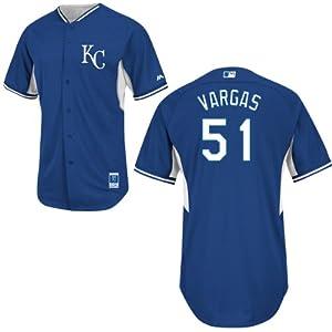 Jason Vargas Kansas City Royals Royal Batting Practice Jersey by Majestic by Majestic