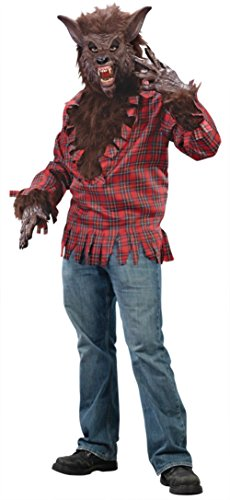 Funworld Mens Scary Brown Werewolf Theme Party Fancy Halloween Costume