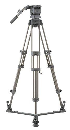 Libec 三脚 DUAL HEAD&三脚システム グランドスプレッダータイプ 3段 中型 2WAY雲台 アルミ ビデオ用 RS-250D