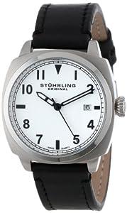 Stuhrling Original Men's 770.SET.01 Tuskegee Spitfire Swiss Quartz Black Date Watch with Additional Strap