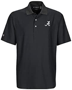 NCAA Alabama Crimson Tide Mens Greencastle Coolmax Jacquard Polo Shirt by Oxford