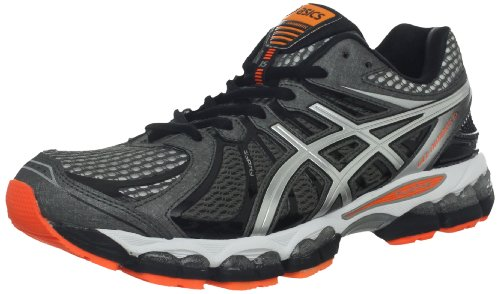 ASICS ASICS Men's GEL-Nimbus 15 Running Shoe,Storm/Black/Flash Orange,12 M US