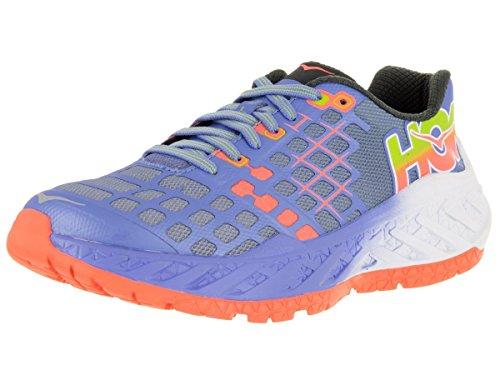 hoka-one-one-womens-w-clayton-ultramarine-neon-coral-running-shoe-85-women-us