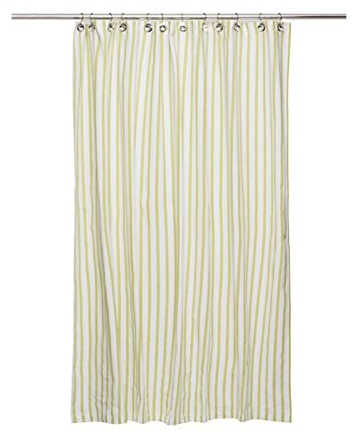 Nine Space Stripe Shower Curtain, Green
